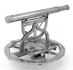An 18th century theodolite of the type that Hodskinson may have used